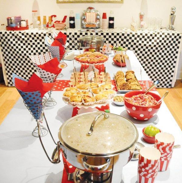 Retro Dinner Party
