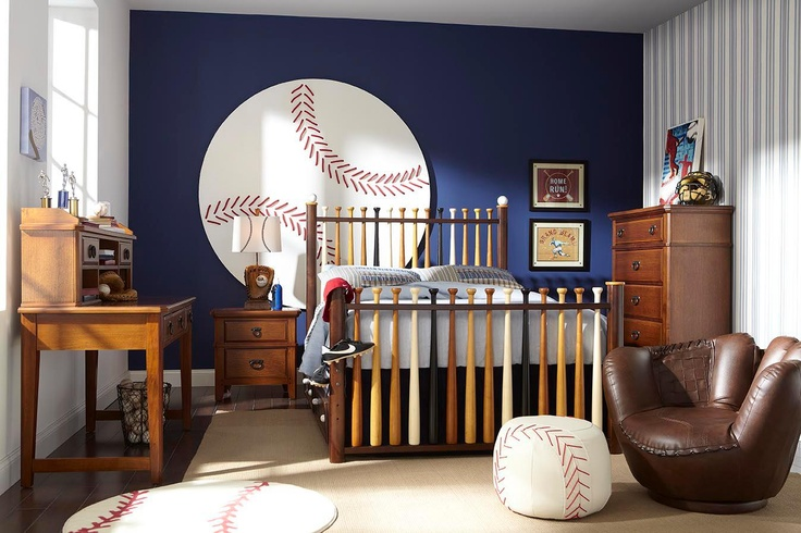 For The Boy Who Loves Americas Favorite Past Time Why Not Try Creating A Baseball Room Your Child Purchasing Bed Made Out Of Actual Bats
