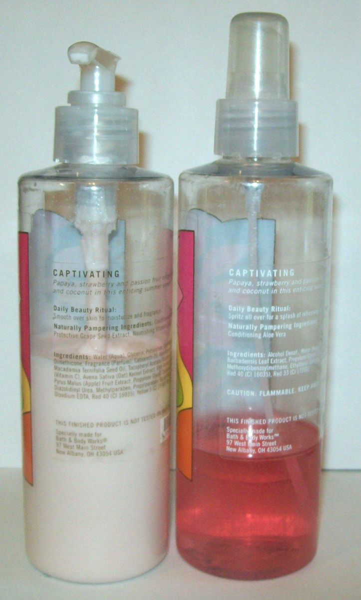 Used Lotion/Body Spray Set