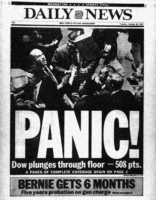 Black Monday Panic