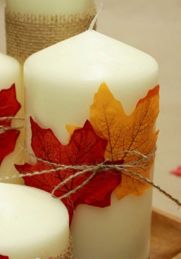 Leafy Candles