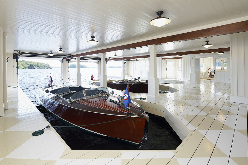 Boats in a House Boat