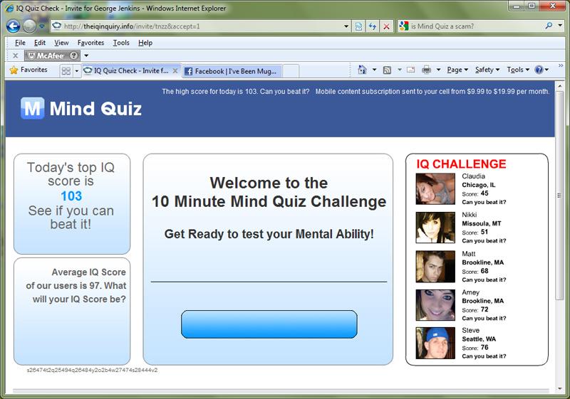 Quiz Scam