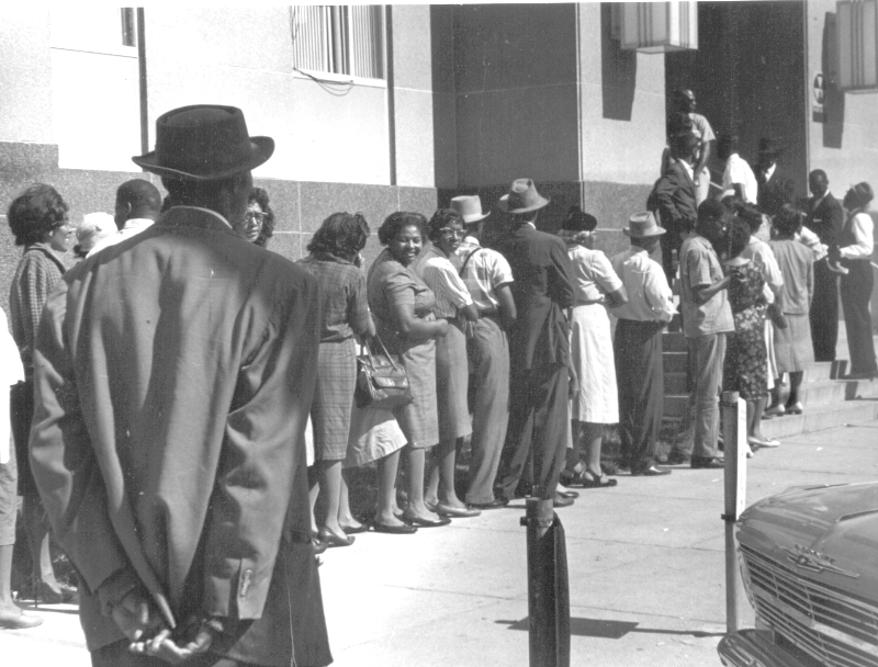 Voter registration campaigns for black people