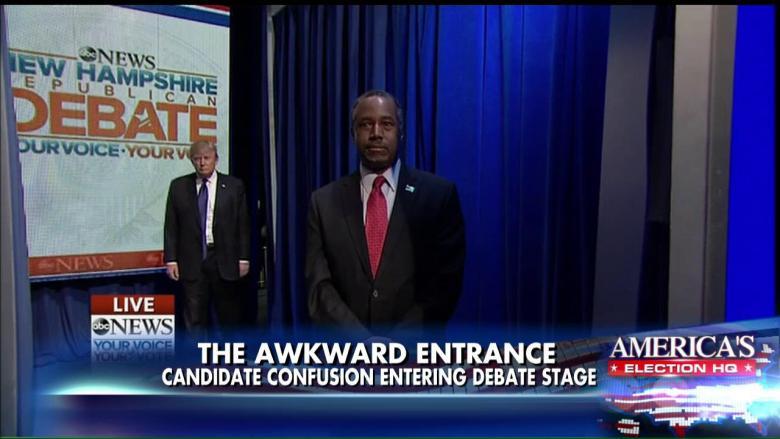 Ben Carson's Awkward Entrance