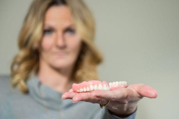 Women, Careful with your False Teeth