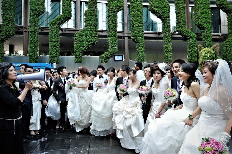 Angry Wall of Bridesmaids