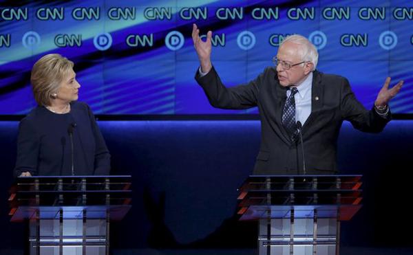Bernie Shushes Hillary
