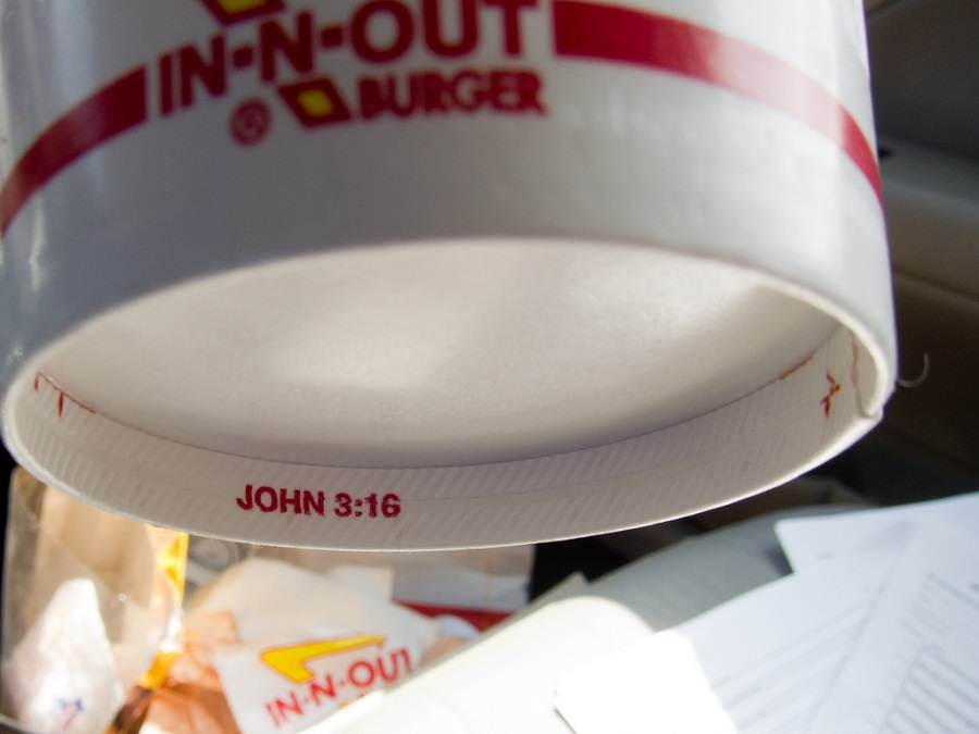 Religious Message Inside Cups