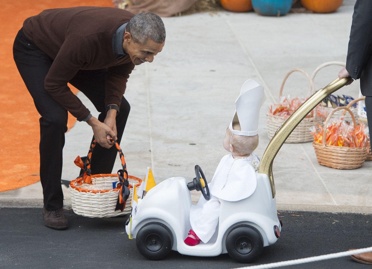 Obama and the Pope-Mobile