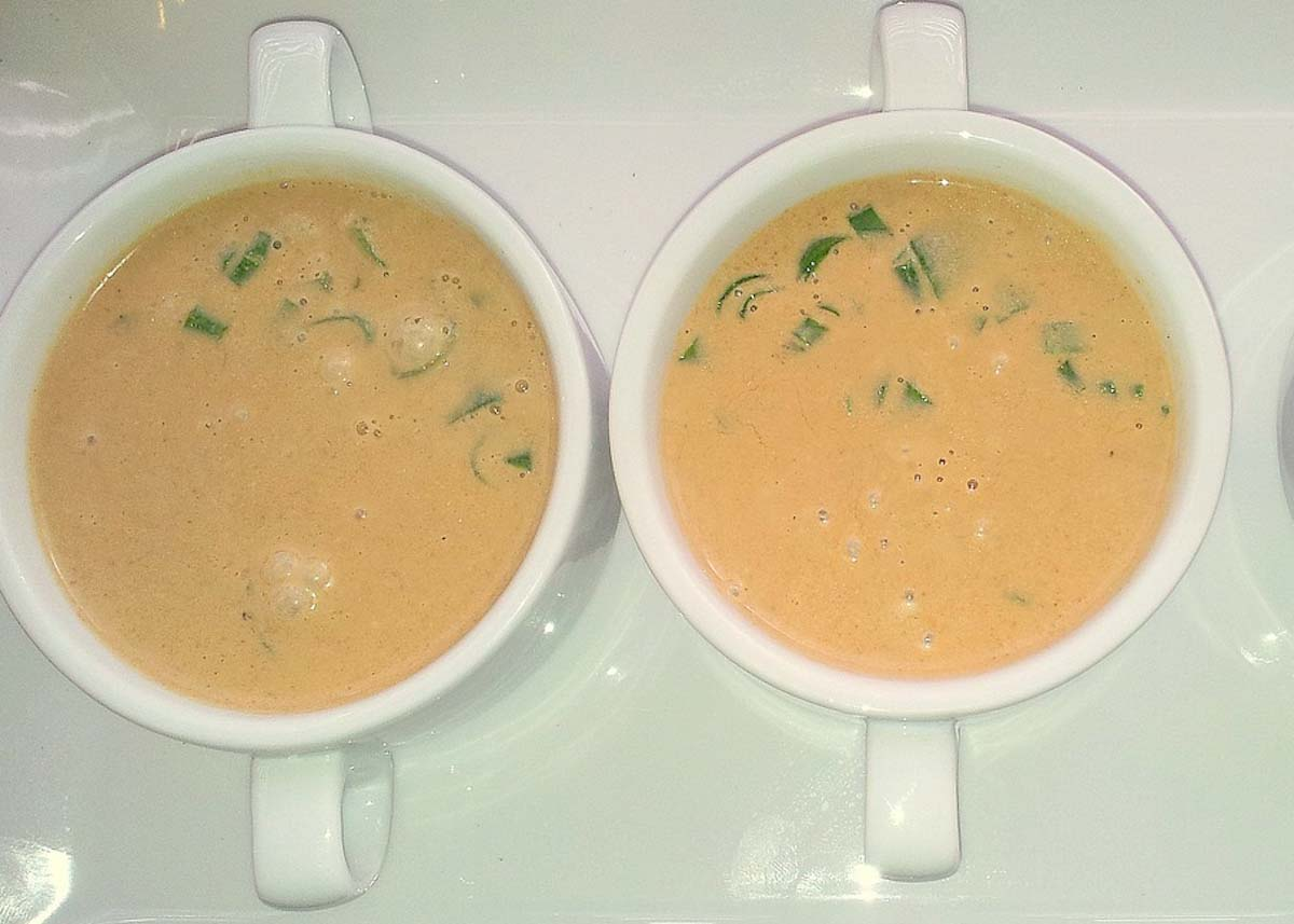 Coconut, Radish, Rhubarb Soup