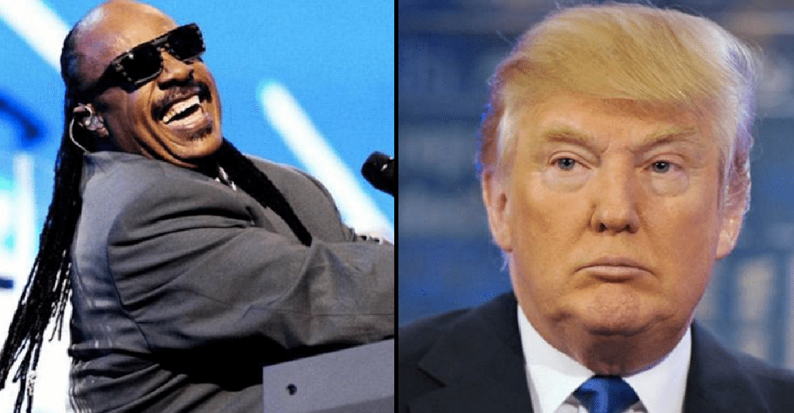Stevie Wonder Delivers Donald Trump Zingers Like Nobody Else