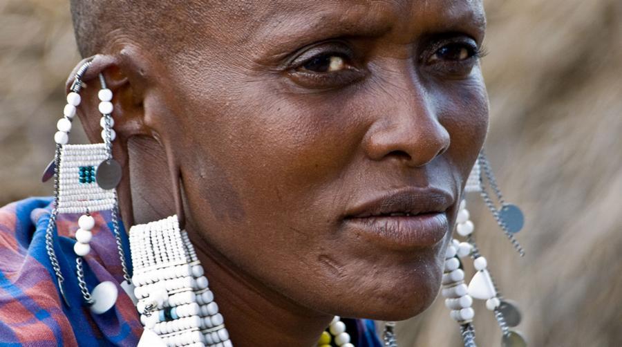 Maasai People and Ear Gauging