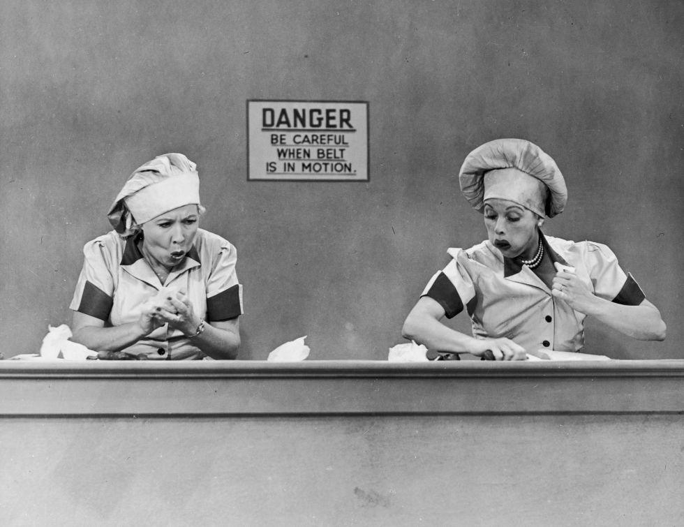 Lucy Ricardo and Ethel Mertz