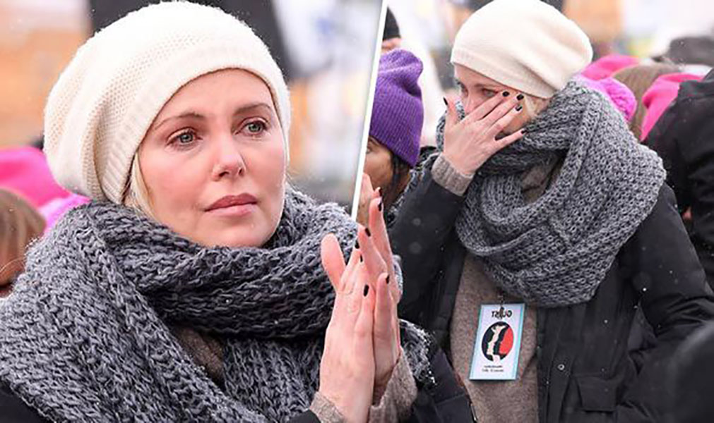 Charlize Theron Joins The March
