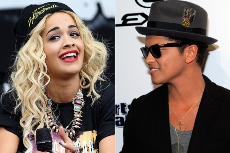 Bruno Mars and Rita Ora