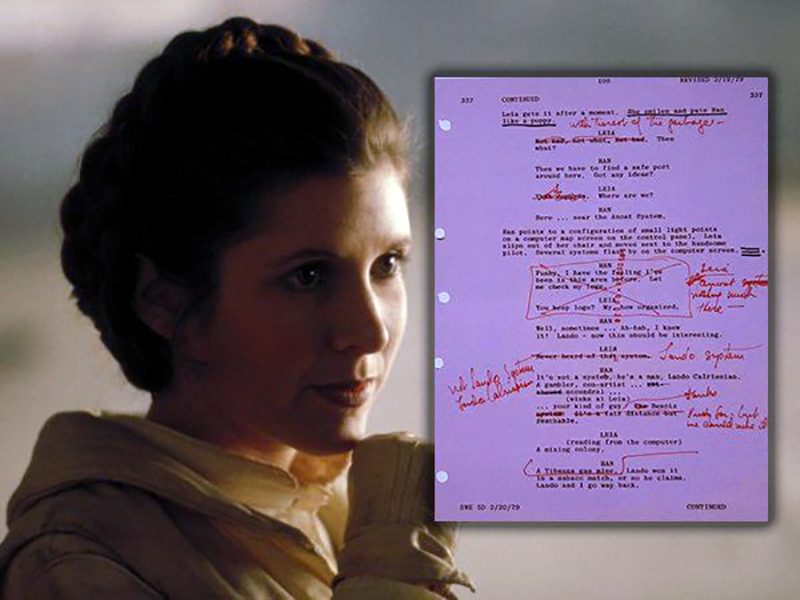 Carrie Fisher Was a Script Doctor