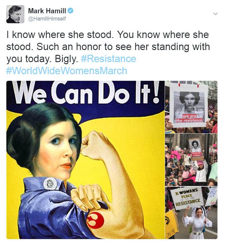 Carrie Fisher Was There In Spirit Too