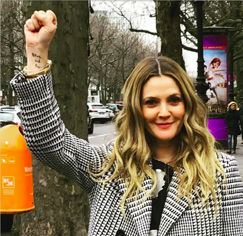 Drew Barrymore Stands For Her Daughters