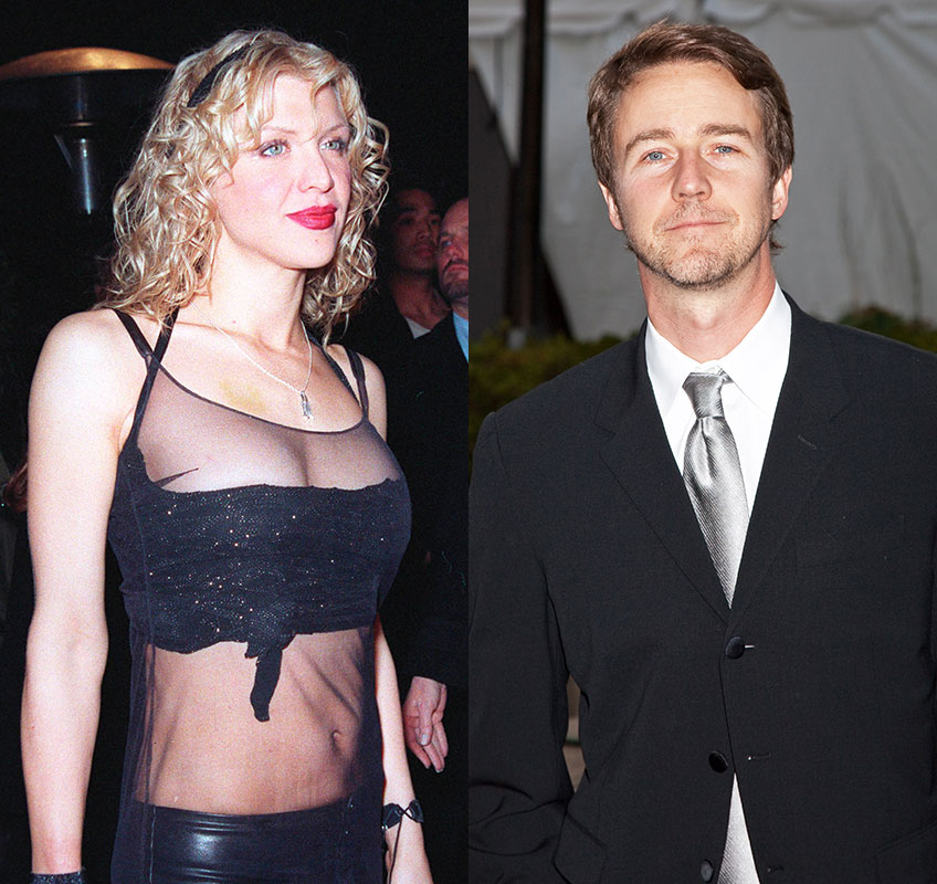 Edward Norton and Courtney Love