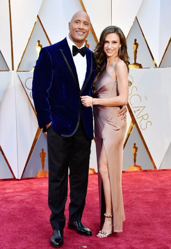 The Rock and Lauren Hashian