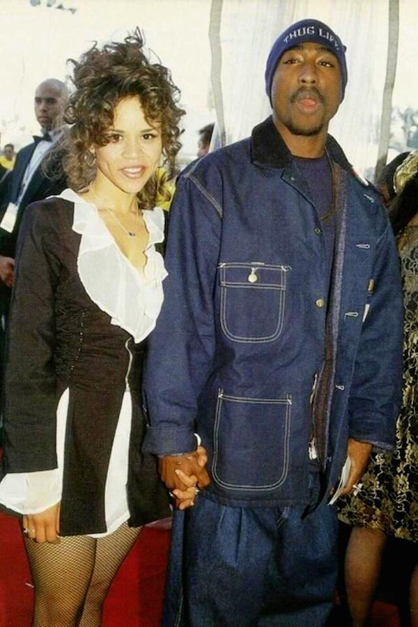 Rosie Perez and Tupac