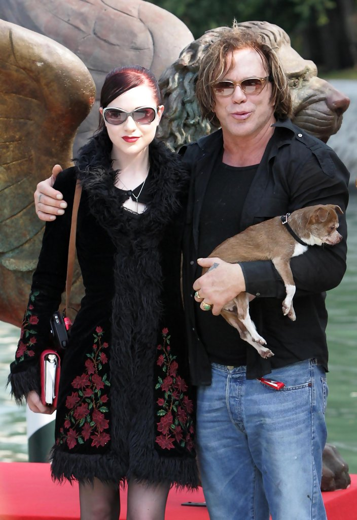 Mickey Rourke and Evan Rachel Wood