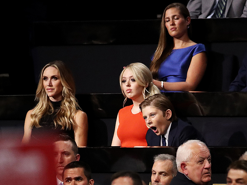 Tiffany Trump and Barron Trum