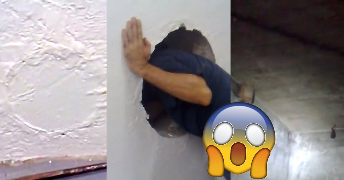 Man Makes Unusual Discovery After Noticing Two Mysterious Circles On Wall