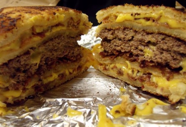 The Double Grilled Cheese Burger – Five Guys