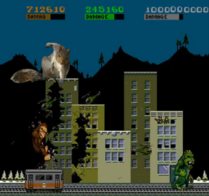 Retro Squirrel Rampage