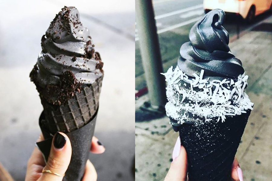 Goth Ice Cream by Little Damage Ice Cream Shop
