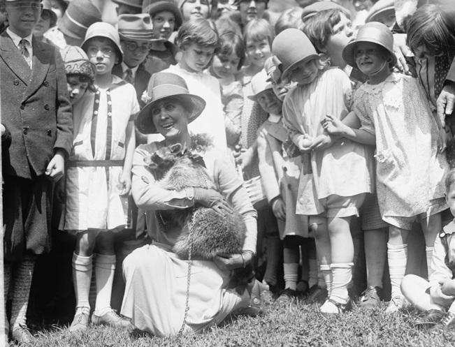 Grace Coolidge & Her Raccoon