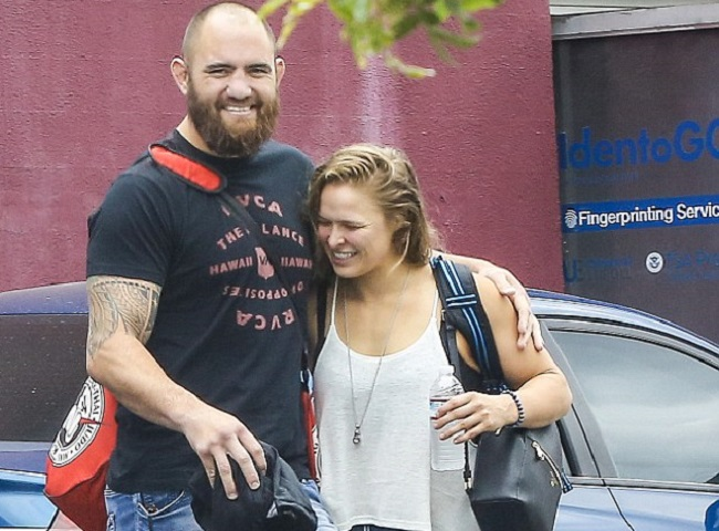 Ronda Rousey's Husband Wants to Fight Her Haters