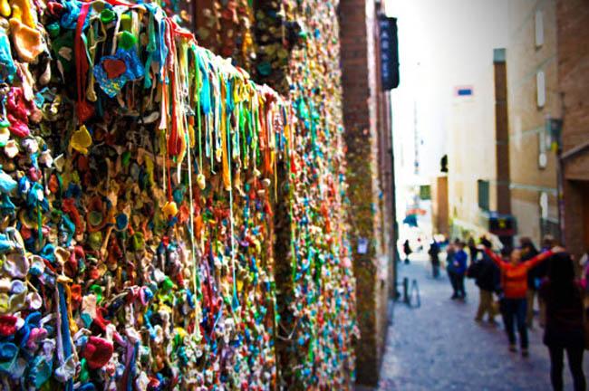 Market Theater Gum Wall: Seattle, Washington