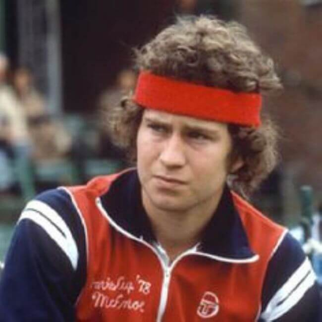 John McEnroe Headband and All
