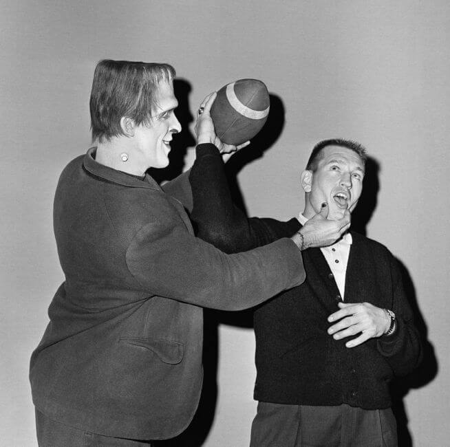 Johnny Unitas Meets Herman Monster