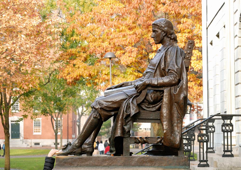 John Harvard Statue: University of Cambridge