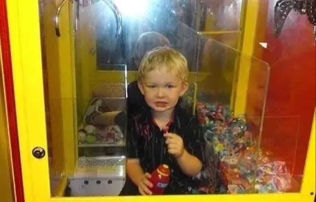 Every Kid's Dream is to Get Stuck Inside a Claw Machine