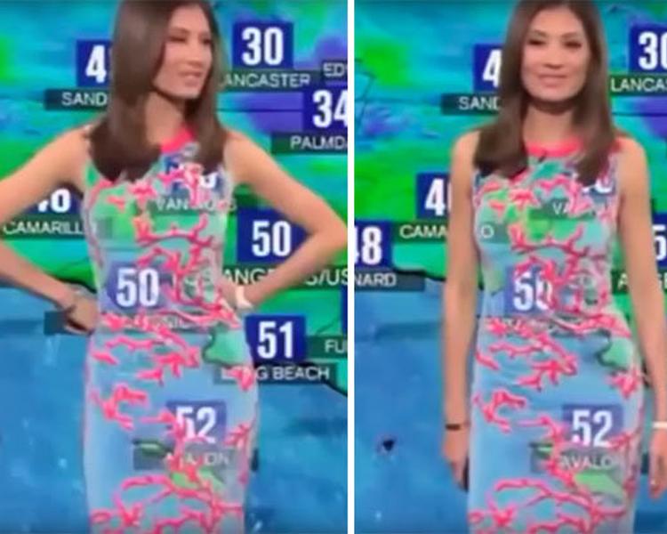 Transparent Dress Reporting Live