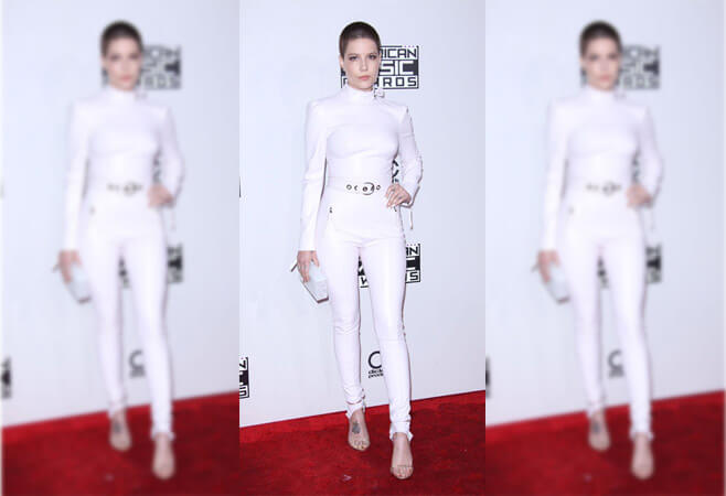 Halsey's Futuristic White-Out Jumpsuit