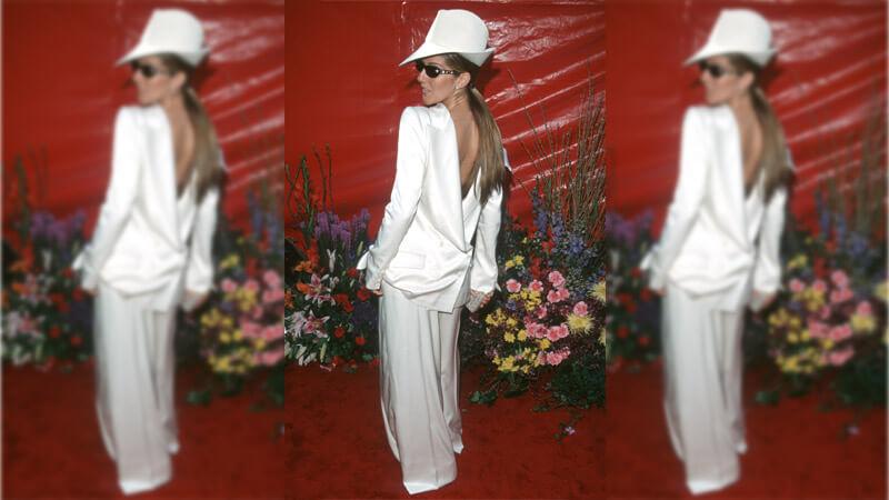 Celine Dion's Backwards Suit
