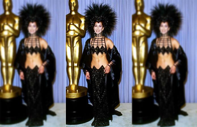Cher's Skin-Bearing Ensemble