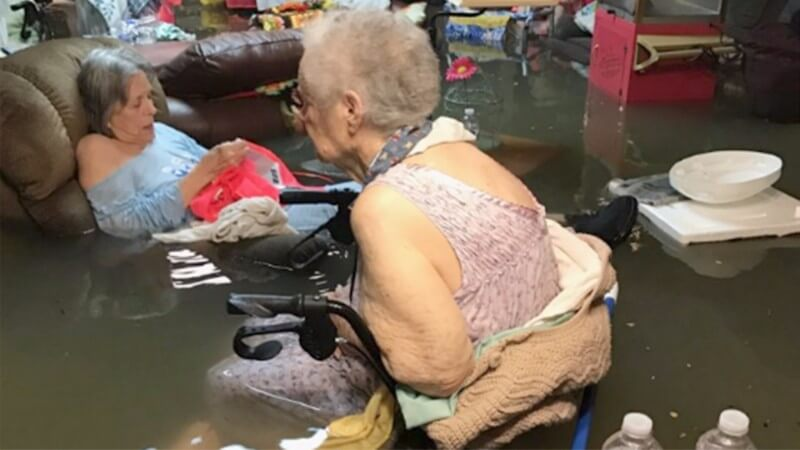 Nursing Home Patients Stranded In Floodwaters