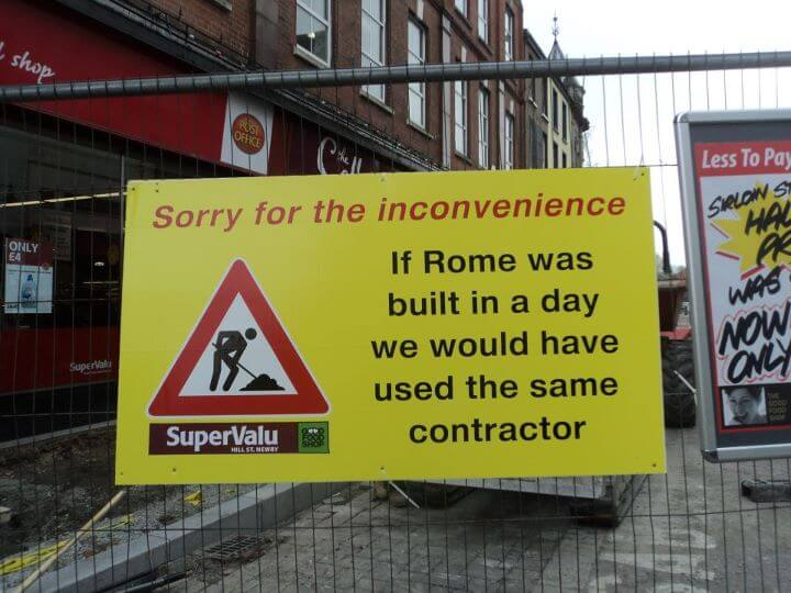 Construction sign funny