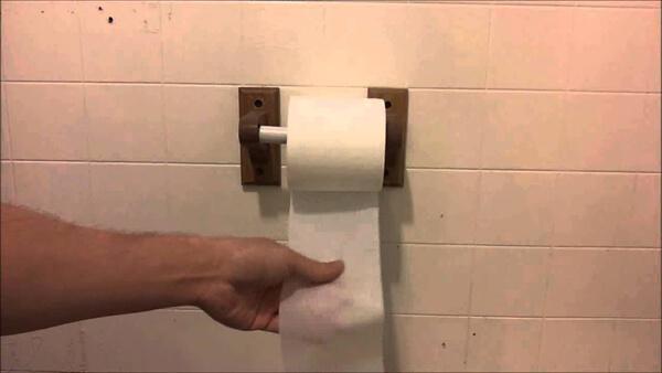 One Of The Biggest Toilet Paper Debates