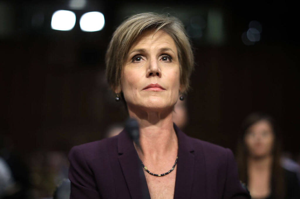 Sally Yates, United States Deputy Attorney General (Fired)