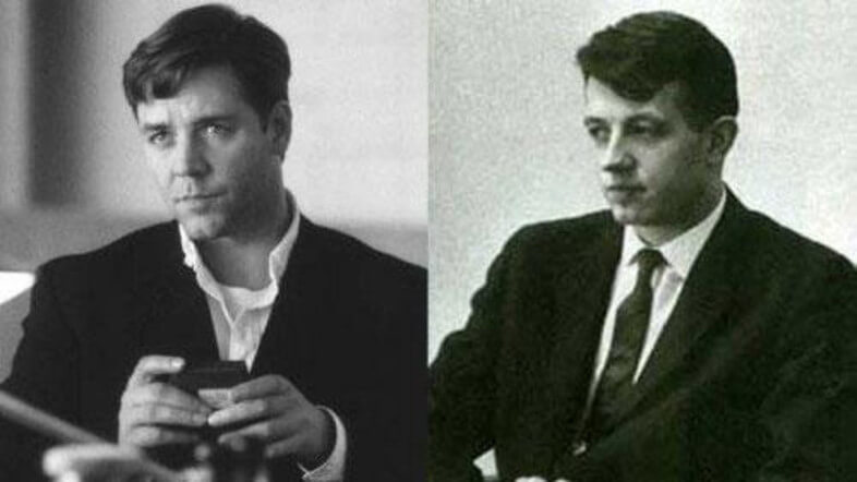 John Nash and Russell Crowe Suited