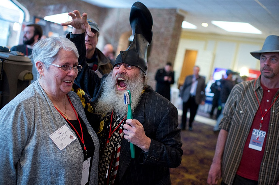 Vermin Supreme believes everyone has the right to a free pony.