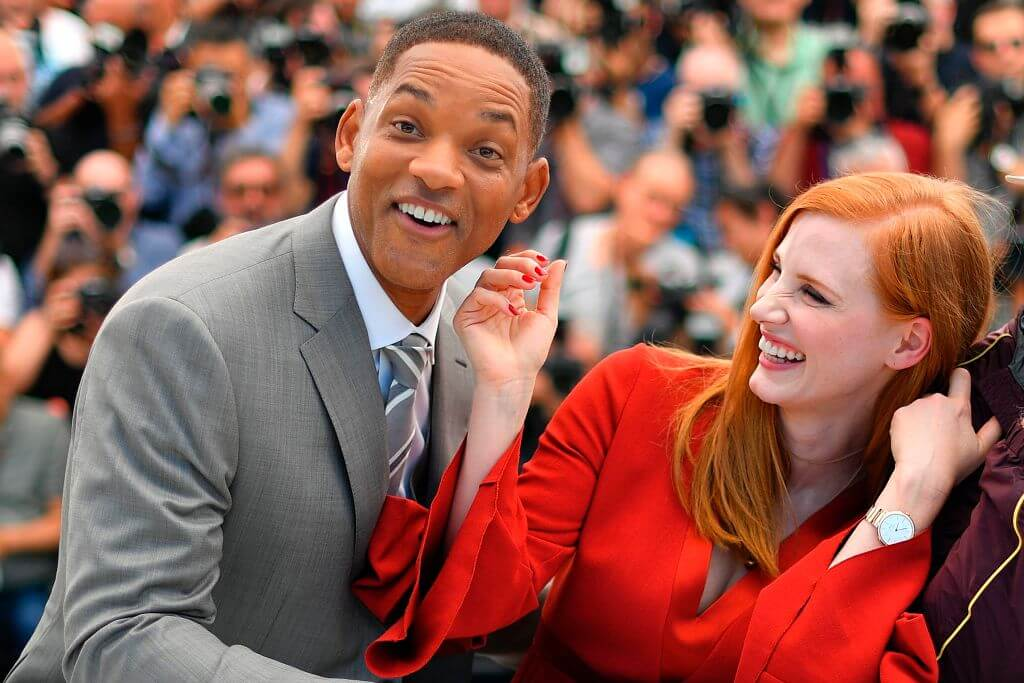 Will Smith and Jessica Chastain